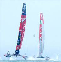 Emirates Team New Zealand, Dean Barker, Team Luna Rossa Challenge and Massimiliano Sirena